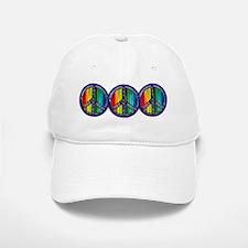 PEACE HEART GAY PRIDE Baseball Baseball Cap