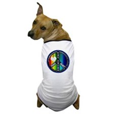 PEACE HEART GAY PRIDE Dog T-Shirt