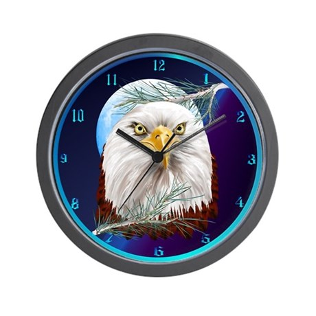 Eagle In The Pines Wall Clock