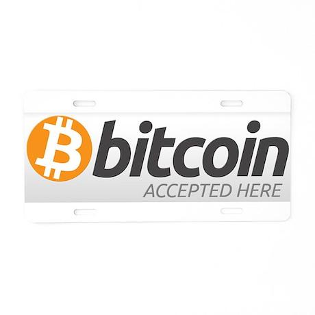 Bitcoins-7 Aluminum License Plate