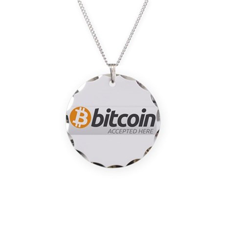 Bitcoins-7 Necklace Circle Charm