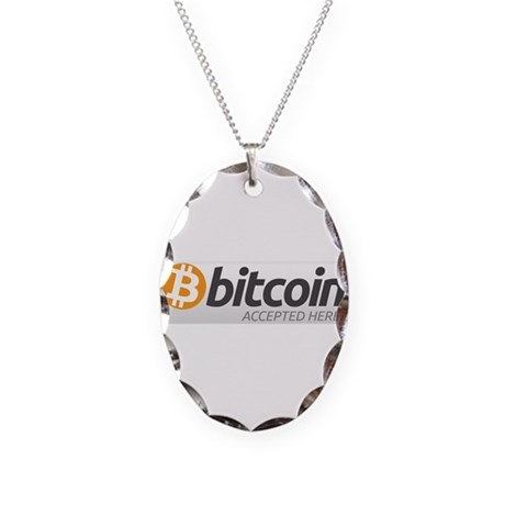 Bitcoins-7 Necklace Oval Charm