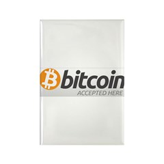 Bitcoins-7 Rectangle Magnet (100 pack)