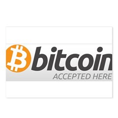 Bitcoins-7 Postcards (Package of 8)