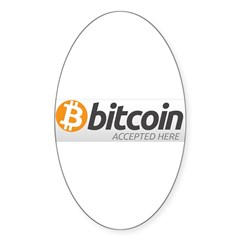 Bitcoins-7 Sticker (Oval)