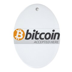 Bitcoins-7 Ornament (Oval)