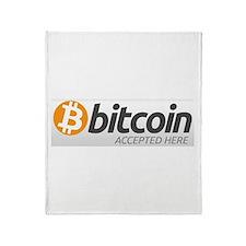 Bitcoins-7 Throw Blanket