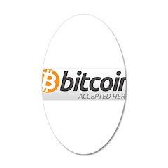 Bitcoins-7 22x14 Oval Wall Peel