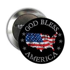 "God Bless America 2.25"" Button"