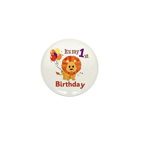 1st Birthday Lion Mini Button (10 pack)