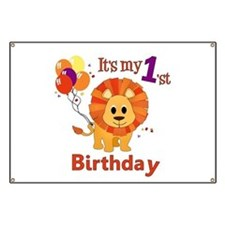 1st Birthday Lion Banner