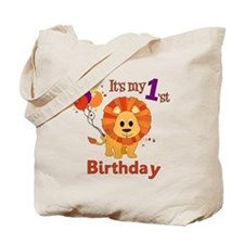 1st Birthday Lion Tote Bag