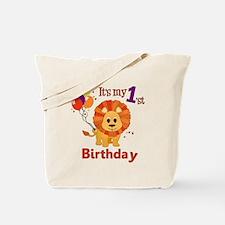 1st Birthday Lion Tote Bag