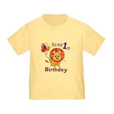 1st Birthday Lion T
