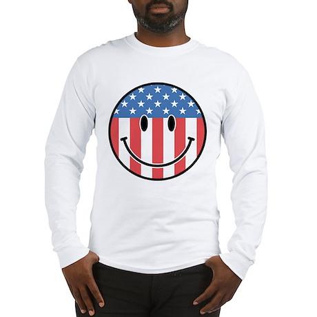 Patriotic Smiley 2 Long Sleeve T-Shirt