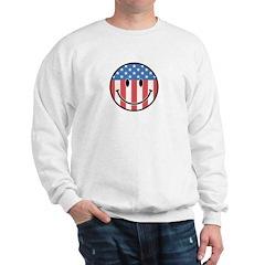 Patriotic Smiley 2 Sweatshirt