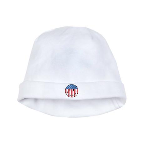 Patriotic Smiley 2 baby hat
