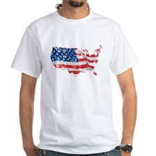 Tattered America Flag Map Shirt