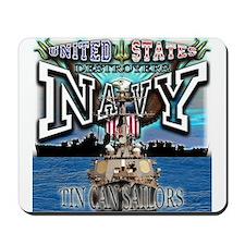 USN Navy Tin Can Sailor Mousepad