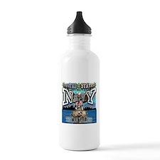 USN Navy Tin Can Sailor Water Bottle