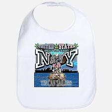 USN Navy Tin Can Sailor Bib