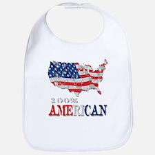 100% American Bib
