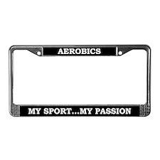 Aerobics License Plate Frame