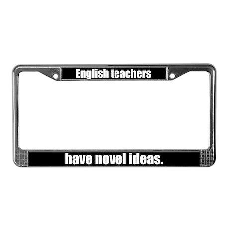 English Teachers License Plate Frame