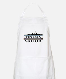 USN Tin Can Sailor Silhouette Apron