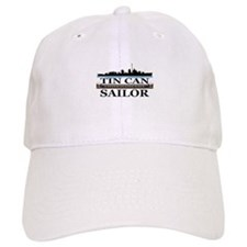 USN Tin Can Sailor Silhouette Baseball Cap