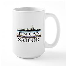 USN Tin Can Sailor Silhouette Mug