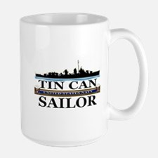 USN Tin Can Sailor Silhouette Mug