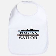 USN Tin Can Sailor Silhouette Bib
