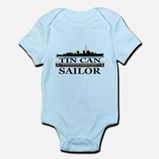 USN Tin Can Sailor Silhouette Infant Bodysuit