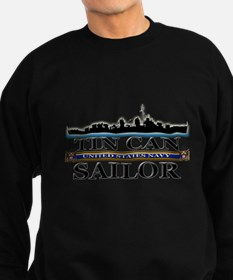 USN Tin Can Sailor Silhouette Sweatshirt