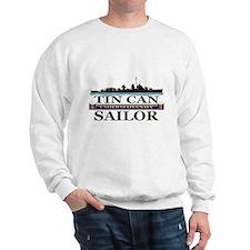 USN Tin Can Sailor Silhouette Sweatshirt