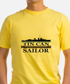USN Tin Can Sailor Silhouette T