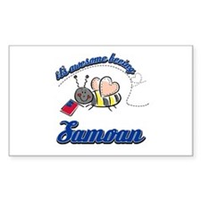 Awesome Being Samoan Decal