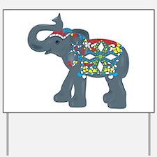 Tribal Art Elephant Yard Sign