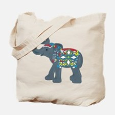 Tribal Art Elephant Tote Bag