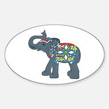 Tribal Art Elephant Decal