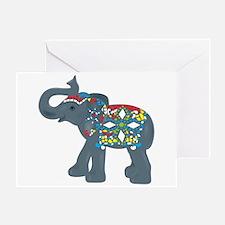 Tribal Art Elephant Greeting Card