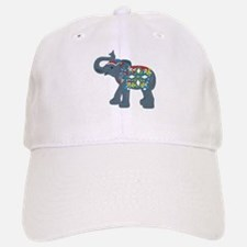 Tribal Art Elephant Baseball Baseball Cap