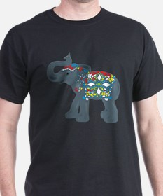 Tribal Art Elephant T-Shirt