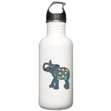 Tribal Art Elephant Stainless Water Bottle 1.0L