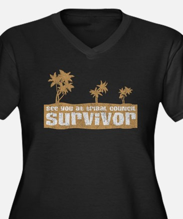 See You at Tribal Council Women's Plus Size V-Neck