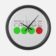 Fringe Green Green Green Red Large Wall Clock