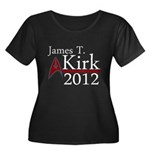 James Kirk 2012 Women's Plus Size Scoop Neck Dark