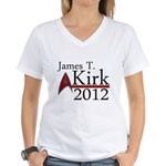 James Kirk 2012 Women's V-Neck T-Shirt