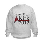 James Kirk 2012 Kids Sweatshirt
